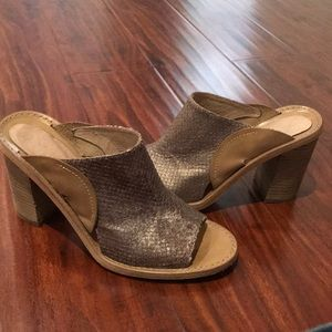 Free People mule heeled sandal